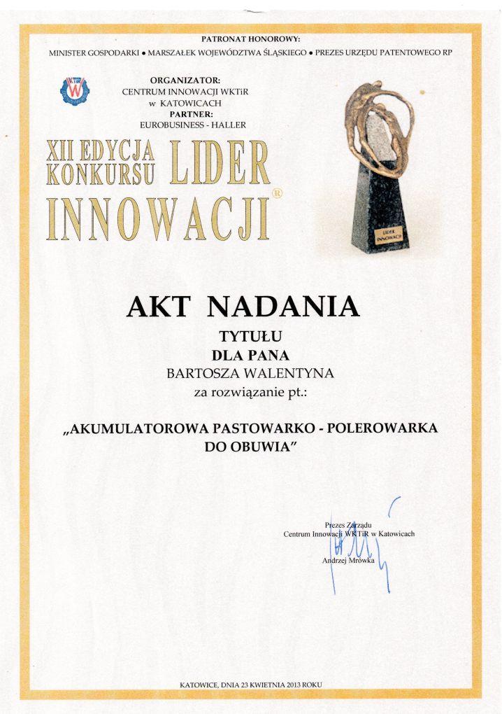akt_nadania_lider_innowacji_2013